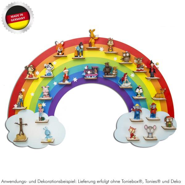 "Magnetisches Tonieregal ""Regenbogen"" ideal geeignet für Tonies® Figuren und Toniebox® / Musikbox-Co"