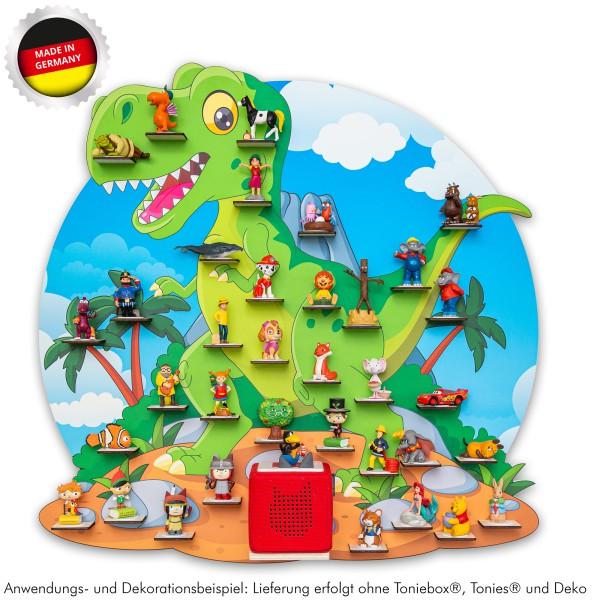 """Magnetisches Tonieregal Dinosaurier """"T-Rex"""" XL ideal geeignet für Tonies® Figuren und Toniebox® / Mu"""