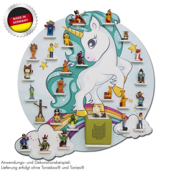 """Magnetisches Tonieregal """"türkis Einhorn"""" ideal geeignet für Tonies® Figuren und Toniebox® / Musikbox"""