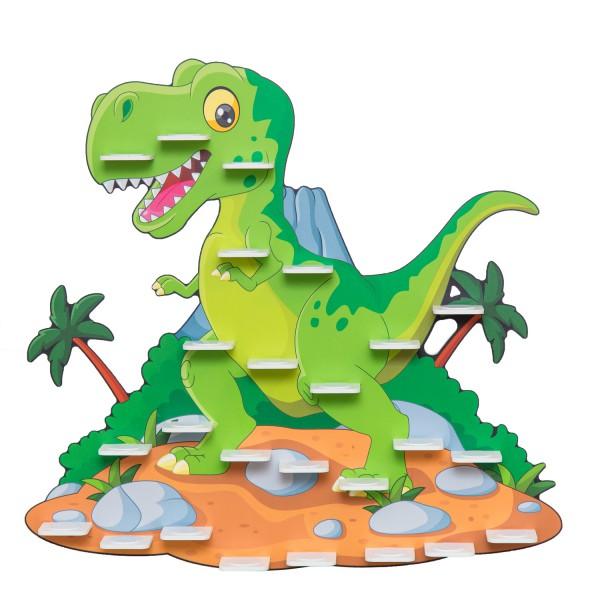 """Magnetisches Tonieregal Dinosaurier """"T-Rex"""" ideal geeignet für Tonies® Figuren und Toniebox® / Musik"""