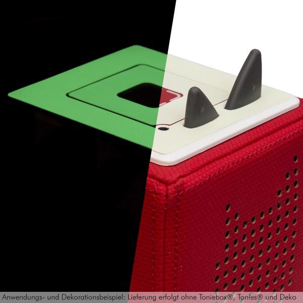 Leuchtaufkleber / Leuchtfolie geeignet für Toniebox® Selbstklebend, lang nachleuchtend, grün